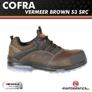 Src Scarpe Antinfortunistiche S3 Cofra Brown Workwear Lavoro Vermeer wrIqrT
