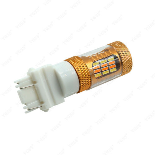 2x 3157 T25 4157NA LED DRL Turn Signal Light Switchback Bulb 54SMD White//Amber