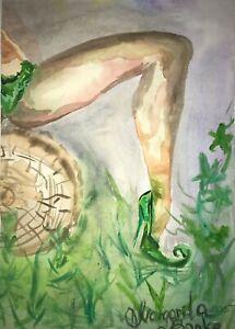 ORIGINAL-Malerei-PAINTING-abstract-abstrakt-erotic-EROTIK-bild-akt-nu-art-nude