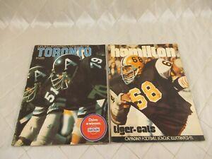 CFL-Illustrated-Magazine-Toronto-Argonauts-1972-Hamilton-Tigercats-1974-Football