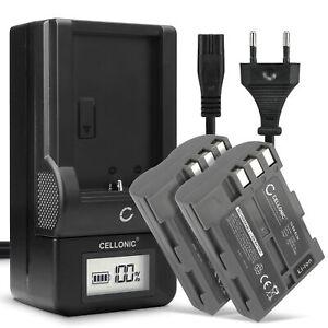 2x Batterie pour Nikon D100 D900 D80 D70s D300 D300S D90 D50 2000mAh + Chargeur