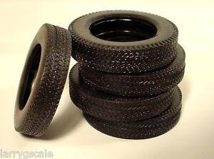 Pliable Treaded Tire Miniatures (5 Pc Set) 1/24 Scale G Diorama Accessory Items
