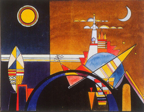 The Great Gate of Kiev by Wassily Kandinsky Giclee Canvas Print Repro
