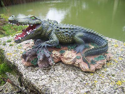 100% Vero Me1015 Figurine Statuette Statue Alligator Crocodile Saurien