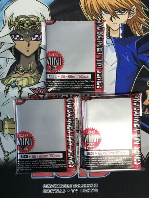 50 KMC MINI METALLIC BLUE Small Card Barrier Sleeves Deck Protector Yugioh ccg