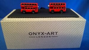 London Red Bus Cufflinks By Onyx-Art LONDON