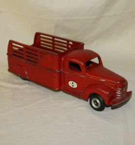 Details about International Arcade Cast Iron Toy Truck stake body Number 709