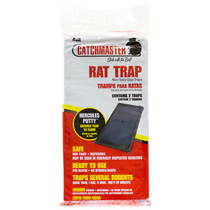 Glue-Boards-For-Rats-48-Traps-Rats-Snakes-Mice-CatchMaster-48R-Deep-Glue-Traps
