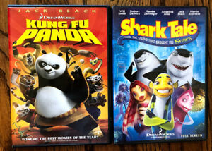 DVD Dreamworks Kung Fu Panda Shark Tale Jack Black Will Smith Robert De Niro