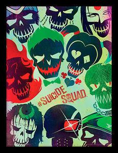 Suicide-Squad-Cranes-Encadre-30-X-40-Officiel-Imprime