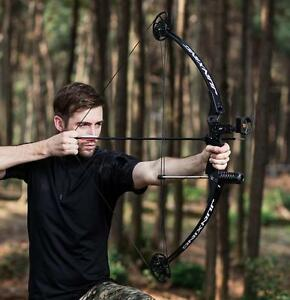 New-Archery-Compound-Bow-Right-Handed-Practice-Hunting-Accessory-Set-25-45Lbs