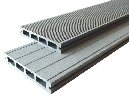 WPC Terrassendielen Handmuster Muster 25 mm x 15 cm steingrau Premium Qualität