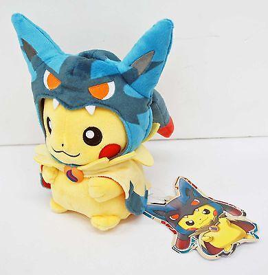 Pokemon Center Plush Doll Poncho Pikachu Mega Lucario 20cm