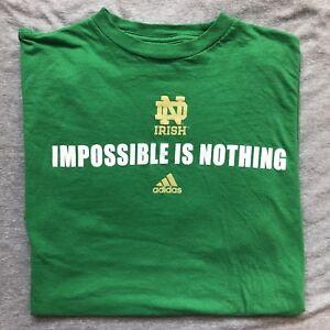 "nouveau produit 28a9a 34732 Details about Men's Adidas Climalite Notre Dame Fighting Irish ""Impossible  Is Nothing"" Medium"