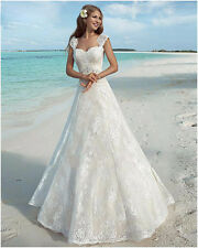 WOMENS ROMANTIC BEACH WEDDING DRESS. BRIDAL GOWN. SIZES 2-22W. HANDMADE.