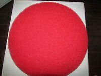 Case 5 Glit Microtron Red Floor Buffer Pad 13 Cleaning Buffing 5100n