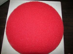 "New Case of 5 ACS INDUSTRIES RED Floor Buffer Pad 13"" Cleaning Maintainence"