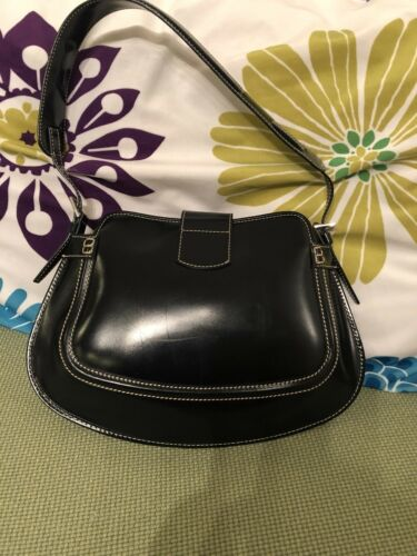 Made cuero In de S Authentic marino de Italy Euc Bolso Tod's azul 8wq5BFB