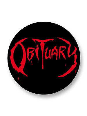 Porte clé Keychain Ø45mm Logo Obituary Death Metal