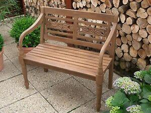 Gartenbank Teak Massiv2 Sitzer Bankantike Formgebung Holz