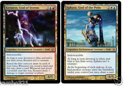 Ephara, God of the Polis & Keranos, God of the Storms + 20 Random Rares MTG GIFT