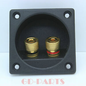 2PCS-Audio-Speaker-Cabinet-Gold-Binding-Post-terminal-box-connector-board-56-56
