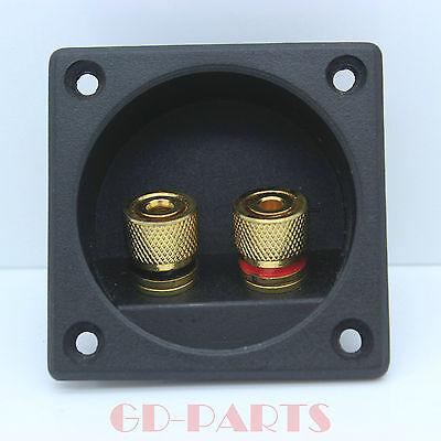 2PCS Audio Speaker Cabinet Gold Binding Post terminal box connector board 56*56