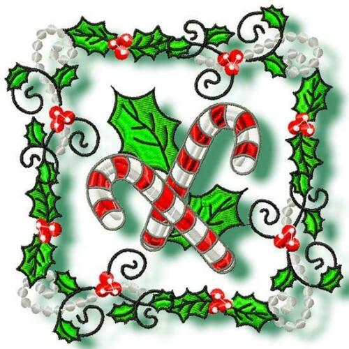 CHRISTMAS BLOCKS NO 3  10 MACHINE EMBROIDERY DESIGNS CD or USB