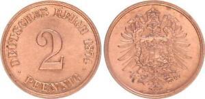 Imperio 2 Peniques 1874C Fast sin Circulación 56238