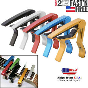 Guitar-Capo-for-Acoustic-and-Electric-Guitars-Quick-Change-Grain-Clamp-USA
