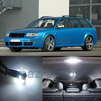 White 21 Pieces Car Led Interior Lights Package Fit 98 04 Audi A6 S6 Rs6 C5 Ebay