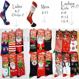 cf6da8e8b38 Image is loading 3-6-12-Socks-Mens-Ladies-Christmas-Socks-