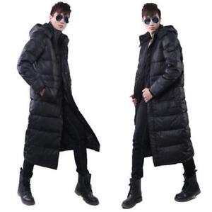 d43ffa8ab47 Mens Duck Down Warm Winter Long Coats Parka Puffer Jackets Outwear ...