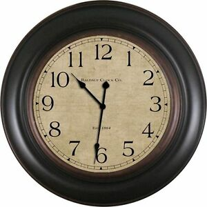 30 wall clock interior baldaufclockcompanyoilrub30034black baldauf clock company oil rub 30