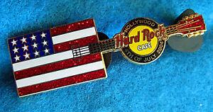 Hollywood-Hrc-4TH-Juillet-Drapeau-Americain-Boite-Guitare-2004-Hard-Rock-Cafe