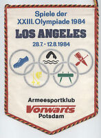 Orig.Wimpel   Olympische Spiele LOS ANGELES 1984 // DDR Sonderedition  !!  TOP