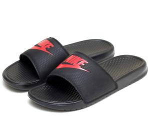 b2cdcf9fe90e Nike Benassi JDI Men s Sandals 343880 060 Black Red Free Fast ...