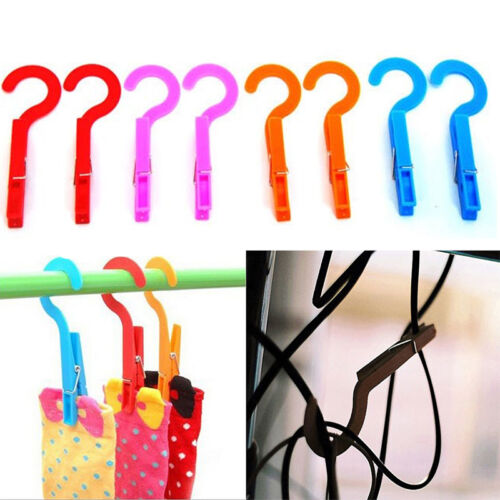 4x Facility Multifunction Home Laundry Travel Clothes Towels Hanger Hook Clips