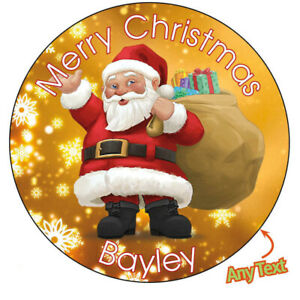 Personalised-Father-Christmas-Xmas-Santa-Stickers-Present-Gift-Gold-Label-871