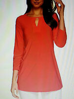 Attitudes By Renee Coral Top Tunic 2x 22-24 Qvc