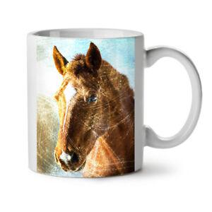 Nature Animal Horse Face NEW White Tea Coffee Mug 11 oz | Wellcoda