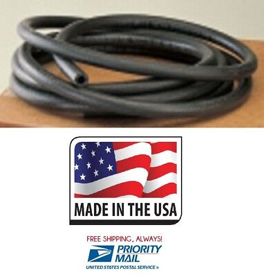 "FUEL HOSE HI-TEMP 3//8/"" ID X 25 FT BLACK RUBBER GAS LINE R7 MADE IN USA FREE SHIP"