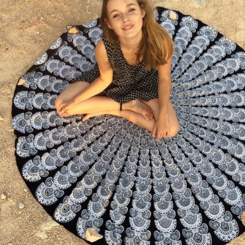 Indisch Mandala Tuch Wandbehang Tapisserie Teppich Stranddecke Picknickdecke