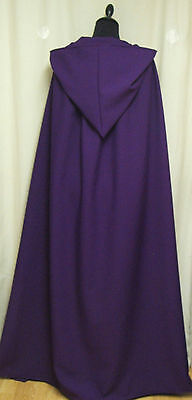 ADULT HOODED CAPE/CLOAK  PURPLE WITCH - WICCA - GOTH LARGE