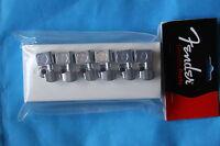 Genuine Fender American Standard Tuners, 6 in line in Chrome, MPN 0990820100