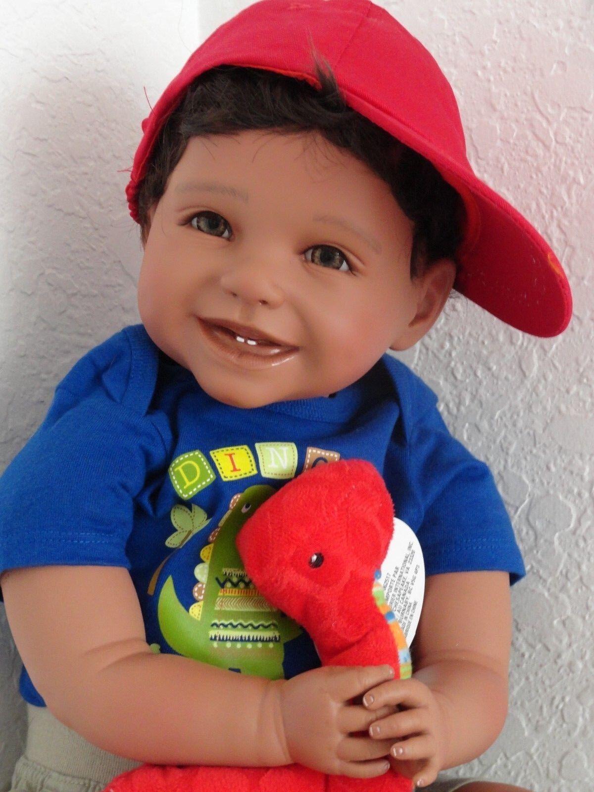 Reborn 22  African American étnica Bebé Niño del niño hispano Muñeca  Mario  -