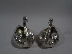 Gorham-Durgin-Bowls-33-Antique-Swans-Birds-American-Sterling-Silver