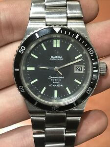 1973-OMEGA-SEAMASTER-COSMIC-2000-AUTOMATIC-STEEL-CASE-DIVERS-WATCH-335-0827-Runs