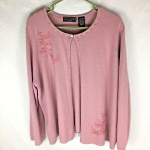 Laura Scott Plus Size 20 22 Women s Sweater Cardigan Pink ... 2981c6bc52