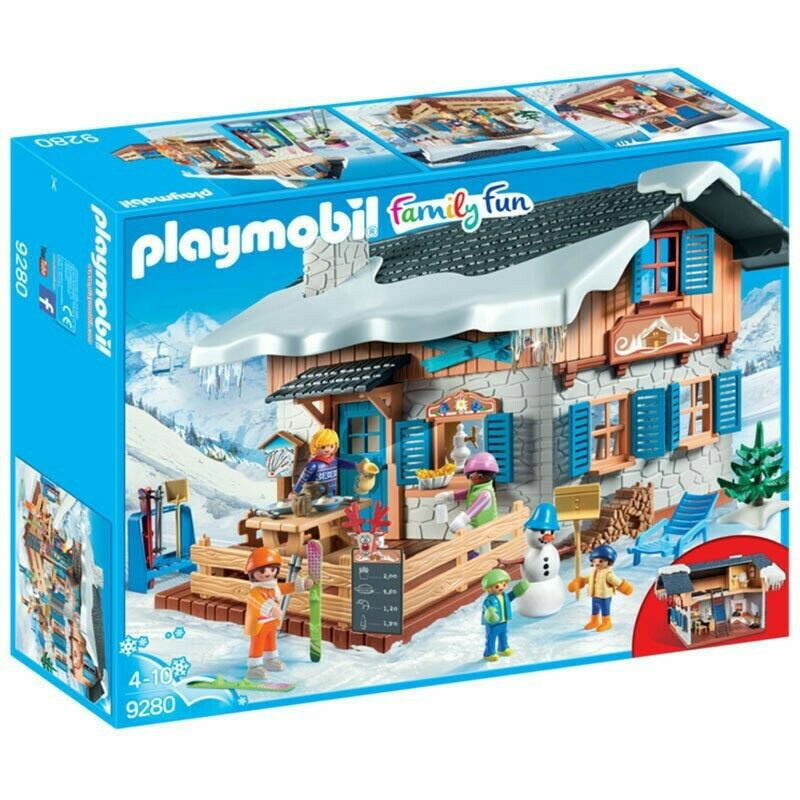 Playmobil 9280 Chalet avec skieurs